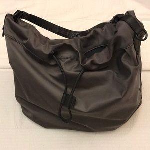 Cole Haan Zero Grand Grey Nylon bucket bag.